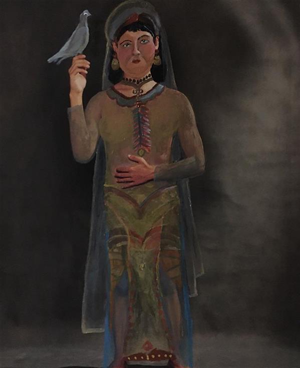 هنر نقاشی و گرافیک محفل نقاشی و گرافیک سایه پارسایی نقاشی روی عکس / ۶۰*۹۰ انسان دوره سلجوقیان
