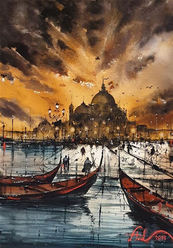 هنر نقاشی و گرافیک محفل نقاشی و گرافیک اوید بهشتی ابرنگ#سایز ۳۴×۴۷
