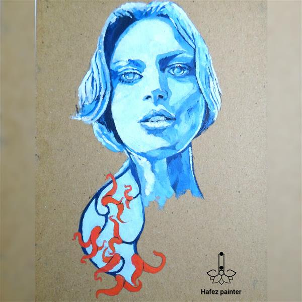 هنر نقاشی و گرافیک محفل نقاشی و گرافیک حافظ بینش #پرتره #رنگ_روغن روی مقوا #هنرمدرن سال خلق اثر تابستان 99 اثر حافظ بینش