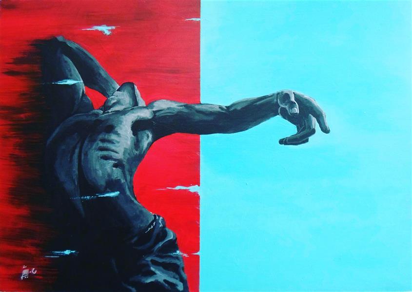 هنر نقاشی و گرافیک محفل نقاشی و گرافیک حافظ بینش نقاشی #فیگوراتیو از مجموعه #تنهایی #اکسپرسیونیسم #مدرن ابعاد: 50 در 70  تکنیک : آکریلیک