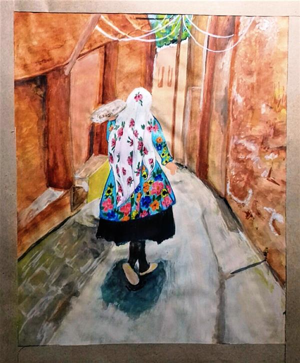 هنر نقاشی و گرافیک محفل نقاشی و گرافیک طاهره قاسمی #آبرنگ#ابیانه#نقاشی#آچهار#زن#هنر#هنر_نقاشی#نقاشی_ایرانی