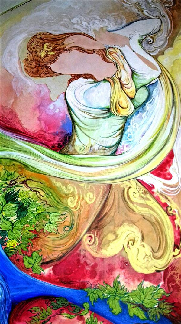 هنر نقاشی و گرافیک محفل نقاشی و گرافیک طاهره قاسمی #جهت_نمایش#مینیاتور#نگارگری#هنر_ایرانی#صد×هفتاد بخشی از اثر