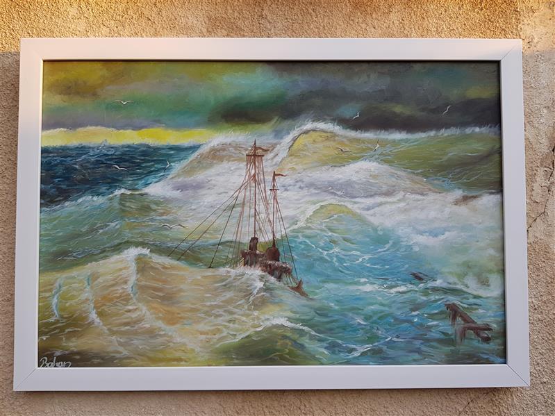 هنر نقاشی و گرافیک محفل نقاشی و گرافیک بهاره ابویی تکنیک:رنگ روغن ابعاد:۶۰×۴۰ #دریا#خروش#موج#ارامش