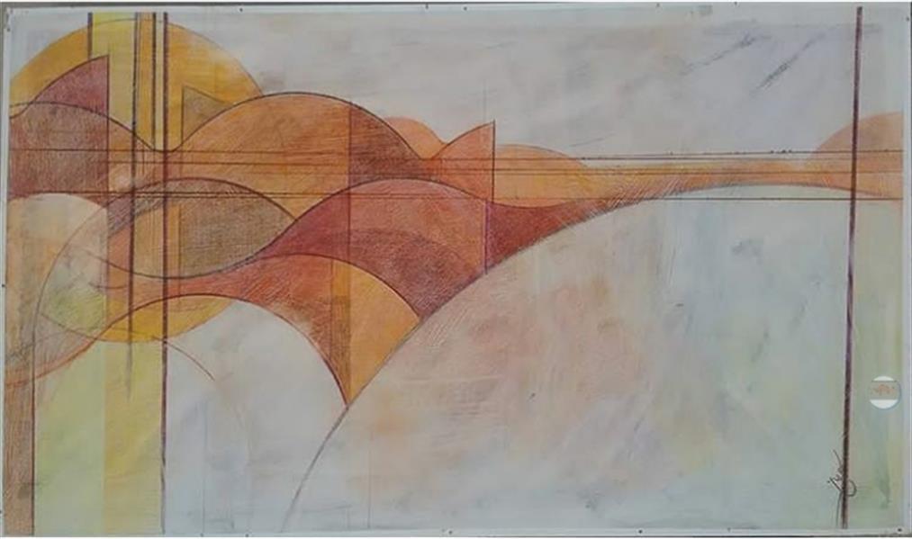هنر نقاشی و گرافیک محفل نقاشی و گرافیک سیدمحسن سیدیان عنوان:مجموعه کویر ابعاد40 .80 تکنیک رنگ پلاستیک ومداد رنگی روی چوب ام دی اف زیرسازی شده