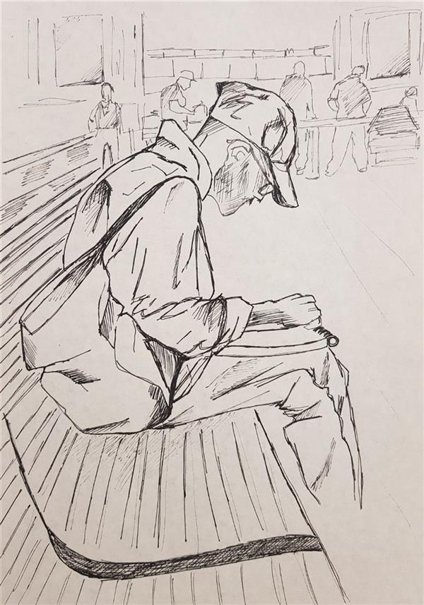 هنر نقاشی و گرافیک محفل نقاشی و گرافیک مهسا خیراندیش  - mahsa kheirandish  عنوان : _ ابعاد : A4 تکنیک : #راپید ( خودکار ) روی #کاغذ سبک : _  سال تولید : ۱۳۹۸ #مهسا_خیراندیش #طراحی  #mahsakheirandish #sketch