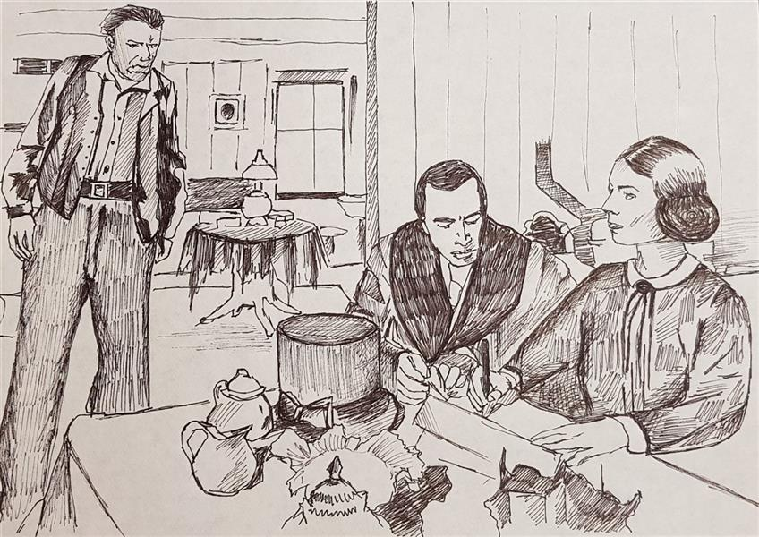 هنر نقاشی و گرافیک محفل نقاشی و گرافیک مهسا خیراندیش  - mahsa kheirandish  عنوان : صحنه ای از #فیلم #همشهری_کین  shot from #Citizen_Kane #movie ( 1941 ) ابعاد : A4 تکنیک : #راپید ( خودکار ) روی #کاغذ سبک : _  سال تولید : ۱۳۹۸ #مهسا_خیراندیش #طراحی  #mahsakheirandish #sketch
