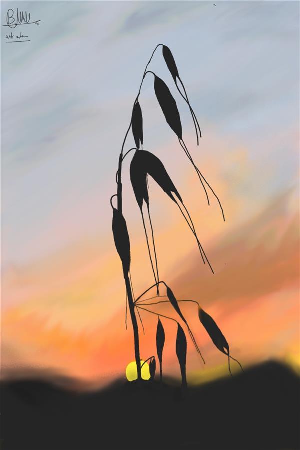 هنر نقاشی و گرافیک محفل نقاشی و گرافیک بختیار احمدی اقدم #گرافیکی #نقاشی_دیجیتالی ابعاد 50در60 کشیده شده با گوشی