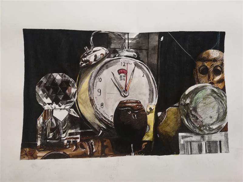 هنر نقاشی و گرافیک محفل نقاشی و گرافیک یکتا هنرمند یکتا خاطرات جا مانده، ابرنگ وقلم فلزی ،پاییز ۱۳۹۹