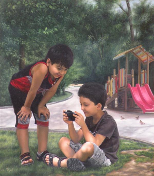 هنر نقاشی و گرافیک محفل نقاشی و گرافیک مژگان زمانی عنوان اثر : بازی کودکانه نقاش: #مژگان_زمانی  تکنیک: #رنگ_روغن  ابعاد: ۶۰ در ۸۰