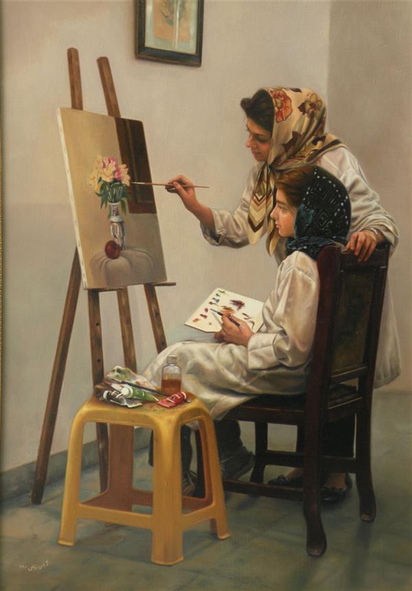 هنر نقاشی و گرافیک محفل نقاشی و گرافیک مژگان زمانی نقاش: #مژگان_زمانی  تکنیک: #رنگ_روغن  ابعاد: ۷۰ در ۱۰۰