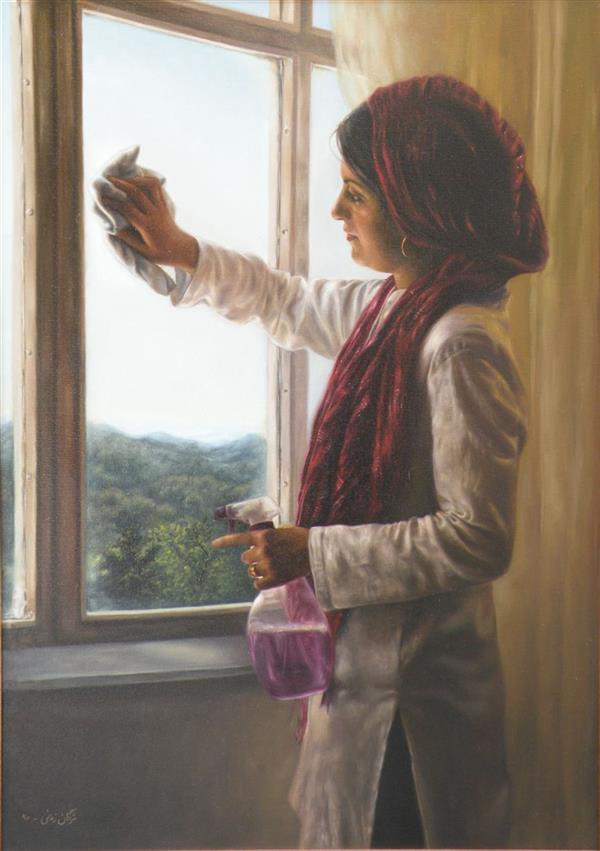 هنر نقاشی و گرافیک محفل نقاشی و گرافیک مژگان زمانی عنوان اثر : پنجره نقاش: #مژگان_زمانی  تکنیک: #رنگ_روغن  ابعاد: ۵۰ در ۷۰