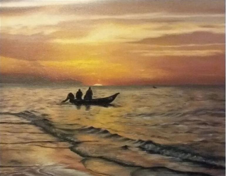هنر نقاشی و گرافیک محفل نقاشی و گرافیک زهرا آذرینوش نقاشی رنگ روغن عنوان: #غروب نقاش: زهرا آذرینوش ابعاد: 50*40