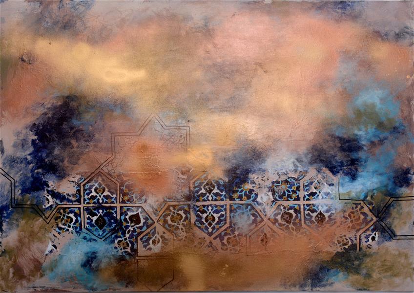 هنر نقاشی و گرافیک محفل نقاشی و گرافیک شیماهاشمی #نقاشی 100.70 ابعاد روی بوم تکنیک ترکیب مواد. (کلاژ و رنگ) قاب شده. قاب سفید #آبستره #انتزاعی #دکوراتیو
