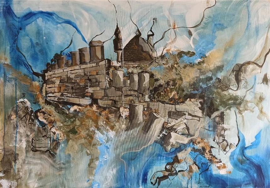 هنر نقاشی و گرافیک محفل نقاشی و گرافیک یاسمن قندی معبد آناهیتا اکرلیک بر روی بوم #فروخته_شد سال اجرا ۱۳۹۹