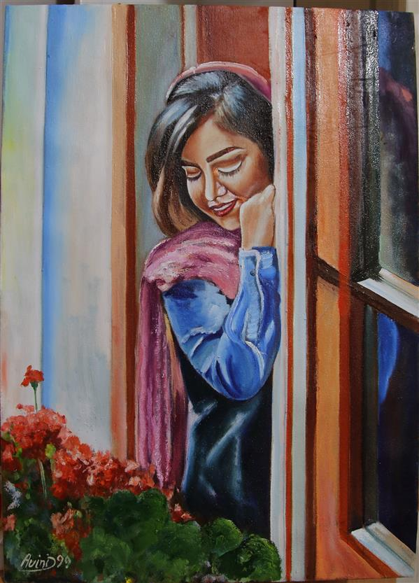 هنر نقاشی و گرافیک محفل نقاشی و گرافیک حسن زمانی رنگ روغن روی بوم 50*70 اورجینال