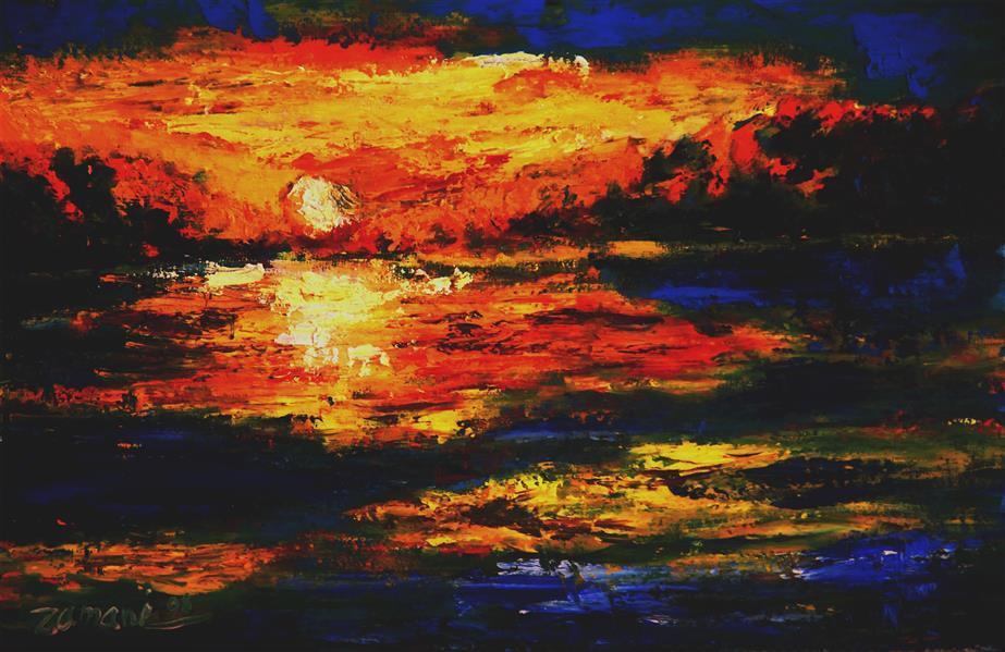 هنر نقاشی و گرافیک محفل نقاشی و گرافیک حسن زمانی رنگ روغن روی مقوا 30*50