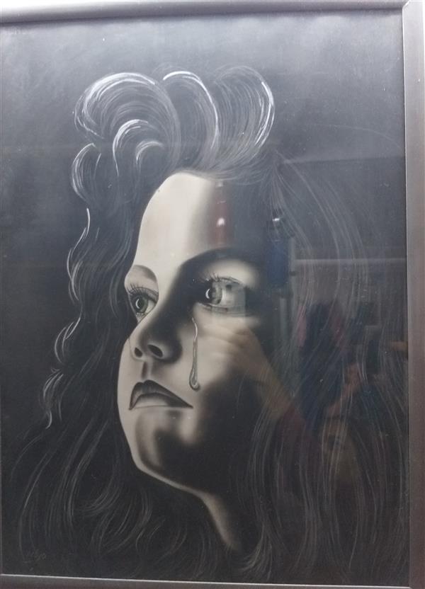 هنر نقاشی و گرافیک محفل نقاشی و گرافیک مرضیه مه آبادی سیاه قلم سال ۱۳۸۴