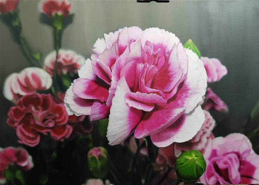 هنر نقاشی و گرافیک محفل نقاشی و گرافیک Negin kazemzadegan #photorealism نقاشی با عنوان دوستان خوب در سبک فوتورئالیسم با رنگ و روغن روی بوم با ابعاد ۵۰×۷۰ سانتیمتر