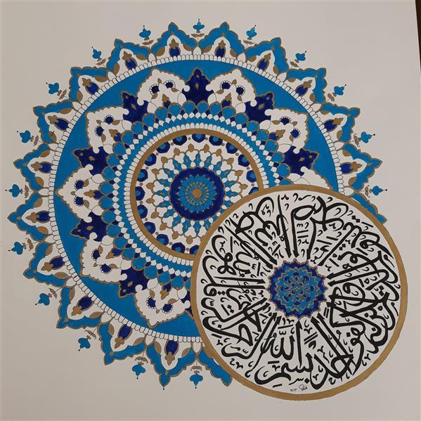 هنر نقاشی و گرافیک محفل نقاشی و گرافیک فاطمه ماندالا طرح ماندالا با راپید و رنگ اکریلیک ۴۰ در ۵۰