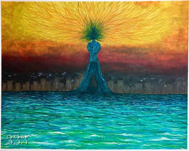 هنر نقاشی و گرافیک محفل نقاشی و گرافیک شکیبا معزی نام اثر:آزادی در زنی ابعاد:۱۰۵*۷۵ #اکرلیک روی #بوم اجرا شده تابلو #قاب سفید ساده به عرض۲.۵ سانت دارد
