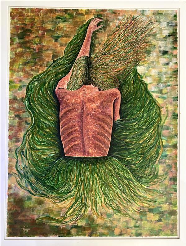 هنر نقاشی و گرافیک محفل نقاشی و گرافیک شکیبا معزی نام اثر:تشویش ابعاد:۸۵*۶۵ #اکرلیک اجرا شده روی #بوم تابلو #قاب سفید ساده به عرض ۲.۵ سانت دارد