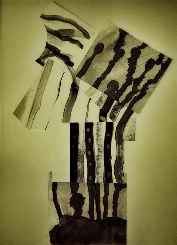 هنر نقاشی و گرافیک محفل نقاشی و گرافیک فاضل قجاوند نفس در دل خاک سبک آبستره اجرا: گواش #ترکیب بندی #COMPOSITION
