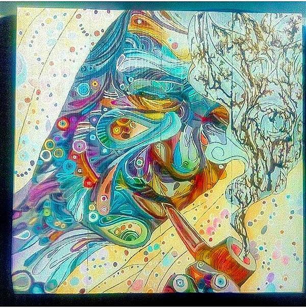 هنر نقاشی و گرافیک محفل نقاشی و گرافیک یونس پیک #قسمتی از نقاشی با جریان برق طراحی شده .ابعاد50*50 اکرولیک به روی چوب
