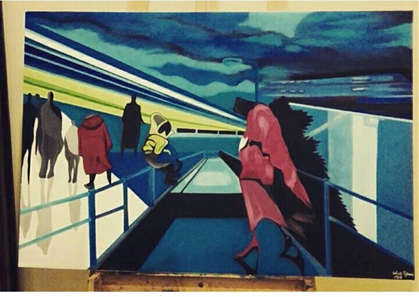 هنر نقاشی و گرافیک محفل نقاشی و گرافیک گلناز تیموری رنگ و روغن سایز ۶۰ در ۹۰