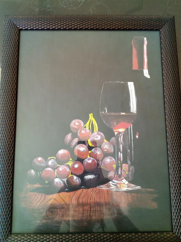 هنر نقاشی و گرافیک محفل نقاشی و گرافیک فاطمه میرزایی نقاشی هایپر رئال سایز A3 گواش