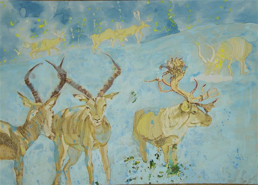 هنر نقاشی و گرافیک محفل نقاشی و گرافیک زهرا برات پور #اکریلیک روی #مقوا ماکت #ابعاد ۵۰×۷۰ سانتیمتر