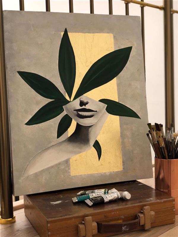 هنر نقاشی و گرافیک محفل نقاشی و گرافیک مریم فریدونی #رنگ_روغن #ورق_طلا 2020