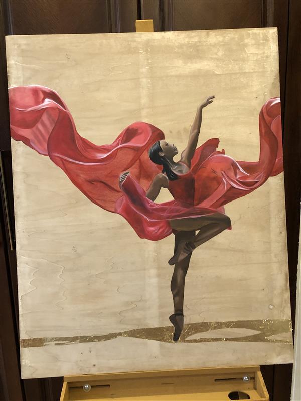 هنر نقاشی و گرافیک محفل نقاشی و گرافیک مریم فریدونی رنگ روغن  بوم چوبی
