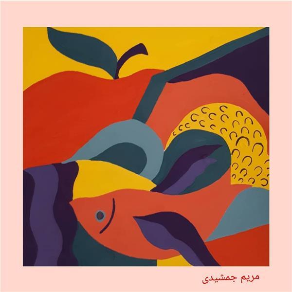 هنر نقاشی و گرافیک محفل نقاشی و گرافیک مریم جمشیدی عینی #تصویرسازی تکنیک: آبرنگ