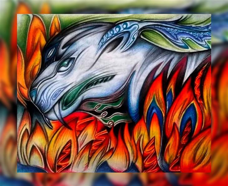 هنر نقاشی و گرافیک محفل نقاشی و گرافیک اشکان دژپرور عنوان: آتش خشم #مدادرنگی