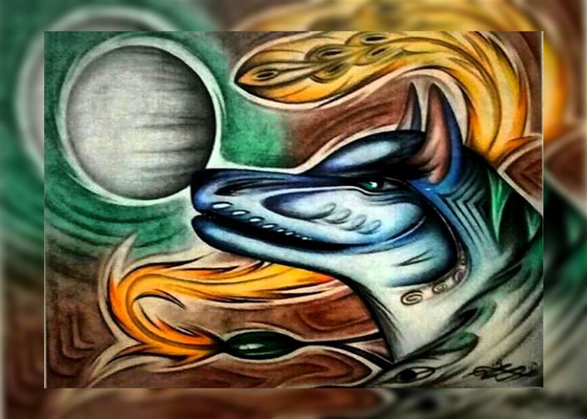 هنر نقاشی و گرافیک محفل نقاشی و گرافیک اشکان دژپرور عنوان: آوای وحش #مدادرنگی