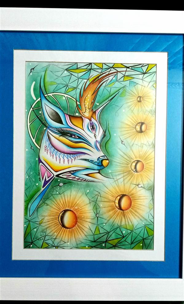هنر نقاشی و گرافیک محفل نقاشی و گرافیک اشکان دژپرور عنوان:آرامش (پاسپارتو دوبل) #مدادرنگی،#پاستل،#ماژیک