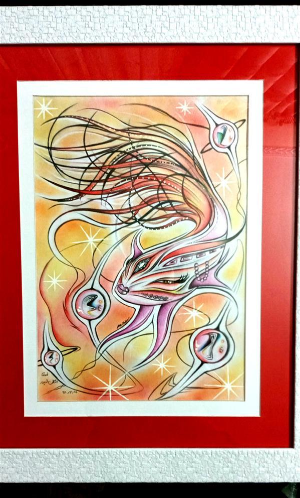 هنر نقاشی و گرافیک محفل نقاشی و گرافیک اشکان دژپرور عنوان:غوغا (#پاسپارتو#دوبل) #مدادرنگی،#پاستل