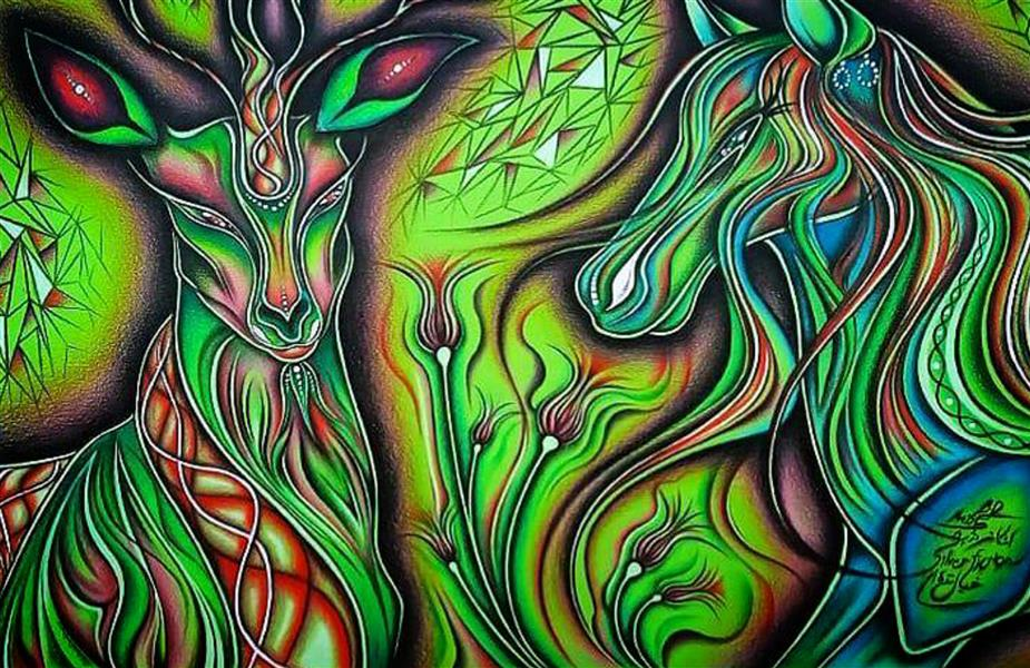 هنر نقاشی و گرافیک محفل نقاشی و گرافیک اشکان دژپرور عنوان: خیال نقره ای ابعاد بدون قاب است. مدادرنگی روی مقوای رنگی