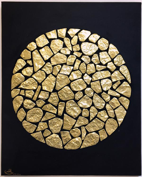 هنر نقاشی و گرافیک محفل نقاشی و گرافیک یلدا سید خلخالى کار شده بر روى بوم با رنگ اکرلیک و کلاژ با پارچه ابعاد : 50x40