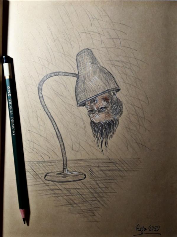 هنر نقاشی و گرافیک محفل نقاشی و گرافیک رویا فرخی صدقیانی کنته و مداد روی کاغذ _ 1399 _ رویا فرخی