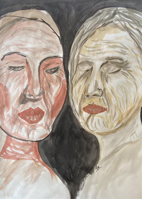 هنر نقاشی و گرافیک محفل نقاشی و گرافیک رویا فرخی صدقیانی #آبرنگ #مرکب سال 98 رویافرخی