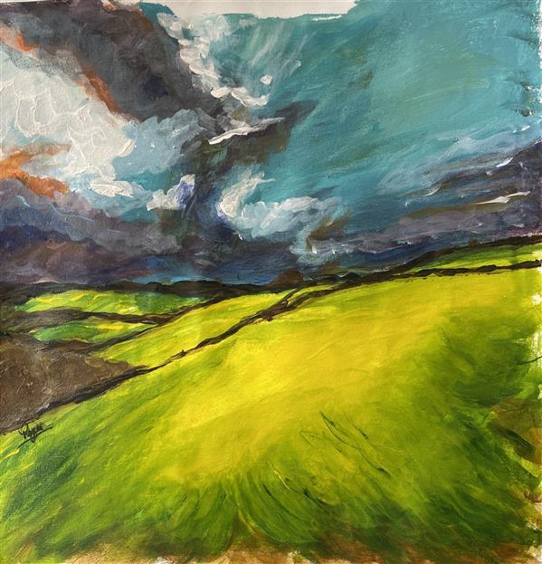 هنر نقاشی و گرافیک محفل نقاشی و گرافیک رویا فرخی صدقیانی اکرلیک روی پارچه بوم ، بهار ۹۹ ،رویا فرخی
