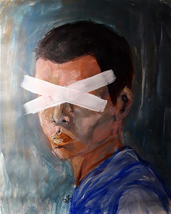 هنر نقاشی و گرافیک محفل نقاشی و گرافیک رویا فرخی صدقیانی اکرلیک روی پارچه بوم ، رویا فرخی