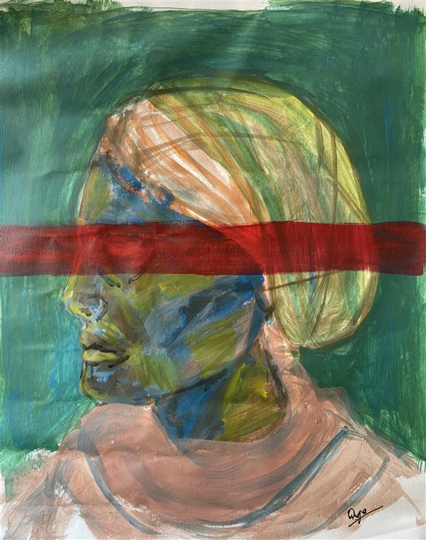 هنر نقاشی و گرافیک محفل نقاشی و گرافیک رویا فرخی صدقیانی اکرلیک روی پارچه بوم، تابستان ۹۹، رویا فرخی