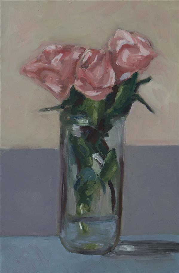 هنر نقاشی و گرافیک محفل نقاشی و گرافیک محدثه عزلتی مقدم گلدان، رنگ روغن روی بوم، ابعاد: ۳۰ × ۲۰ ، سبک : امپرسیونیسم