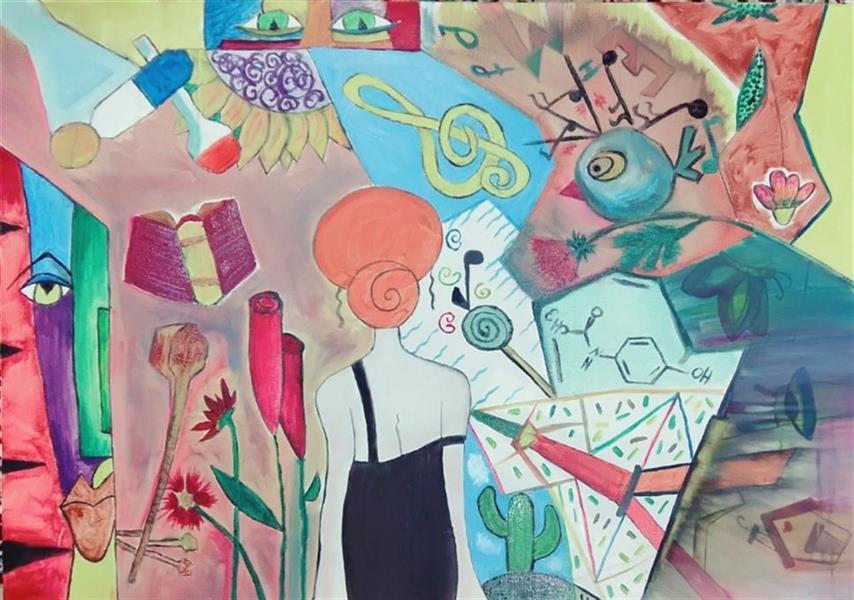 هنر نقاشی و گرافیک محفل نقاشی و گرافیک مریم نوربخش نقاشی رنگ روغن  سبک:کوبیسم سایز:۷۰ ×۱۰۰