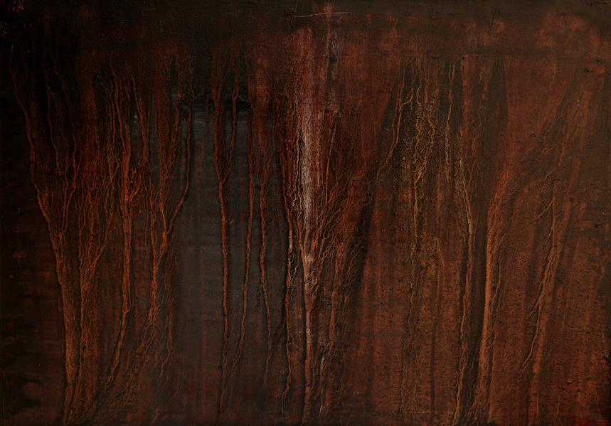 هنر نقاشی و گرافیک محفل نقاشی و گرافیک بهرامشاه محمودی نام اثر. رگ ریشه و دریا خدا  سال خلق 1398 تکنیک رنگ روغن روی بوم