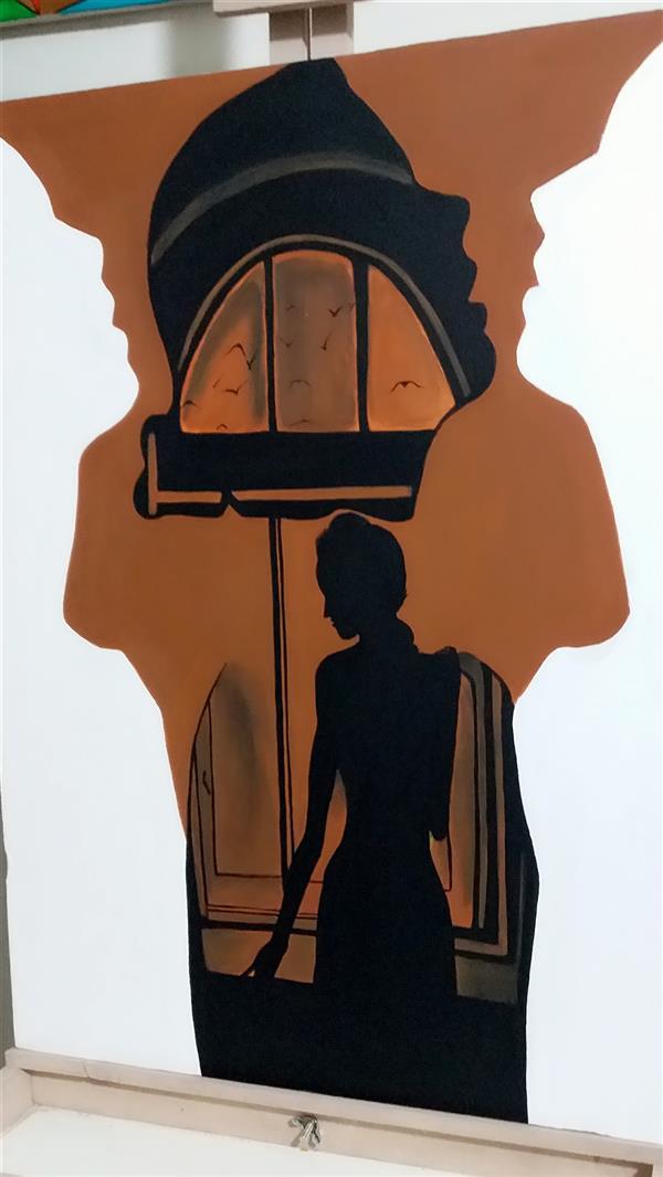 هنر نقاشی و گرافیک محفل نقاشی و گرافیک Rahajoudi70 #نقاشی_اکرولیک در ابعاد ۵۰*۷۰