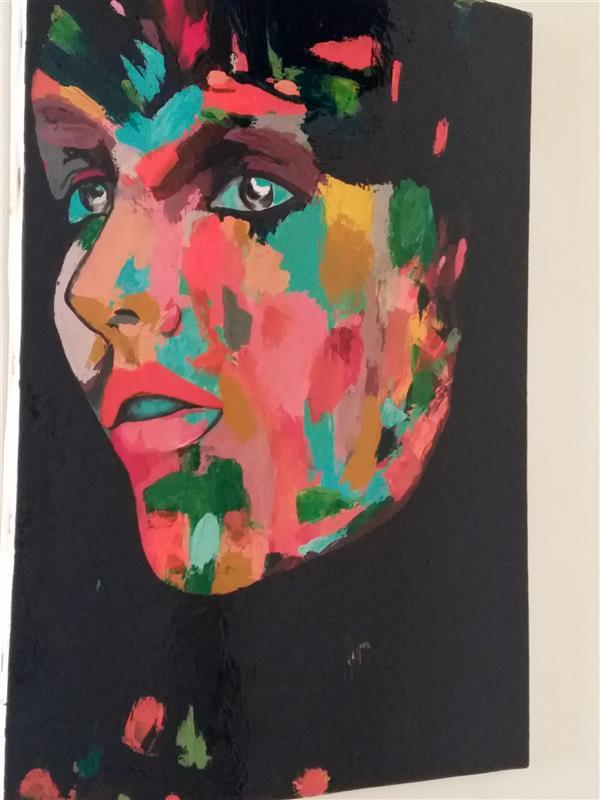 هنر نقاشی و گرافیک محفل نقاشی و گرافیک Rahajoudi70 #نقاشی_مدرن_برجسته در ابعاد ۵۰*۷۰ رنگ اکرولیک کار شده