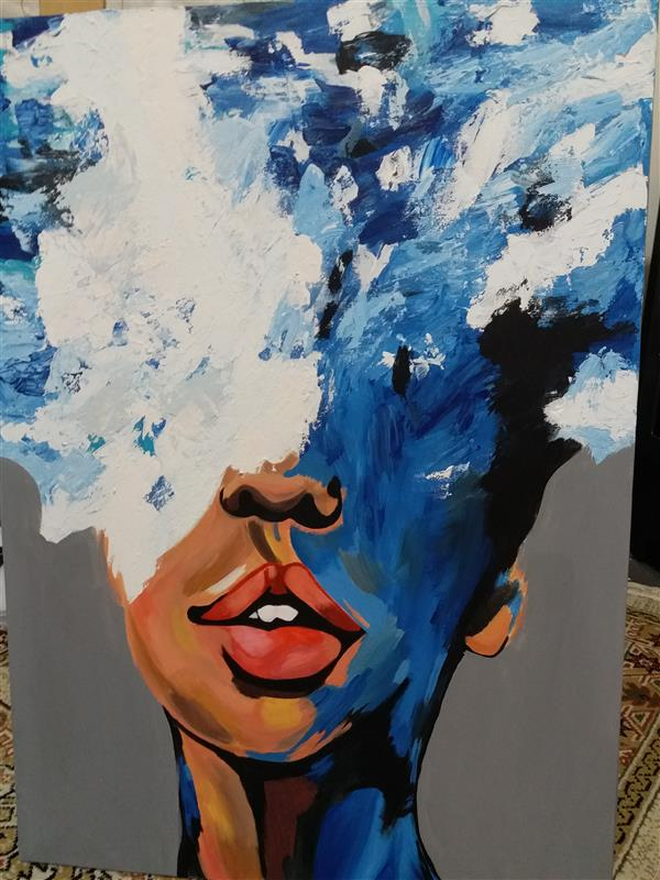 هنر نقاشی و گرافیک محفل نقاشی و گرافیک Rahajoudi70 #نقاشی_مدرن_برجسته رنگ اکرولیک ابعاد ۵۰*۷۰
